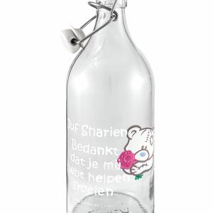 fles met naam