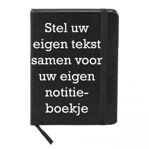 Notitieboekje bedrukt eigen tekst, foto of logo