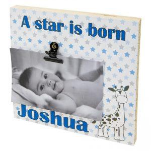 Fotoblok met naam geboorte