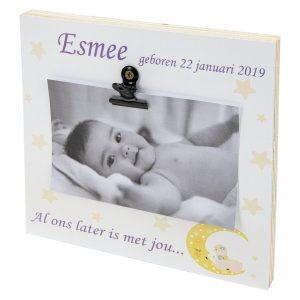 Fotoblok met naam en geboortedatum