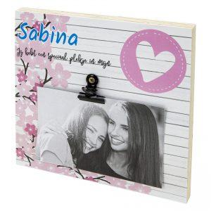 Fotoblok liefde vriendinnen met naam