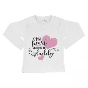 Shirt met tekst voor valentijn kinderen