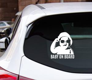 Raamsticker Baby On Board